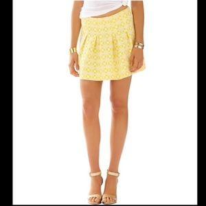 Lilly Pulitzer Leila Jacquard Pleated Mini Skirt